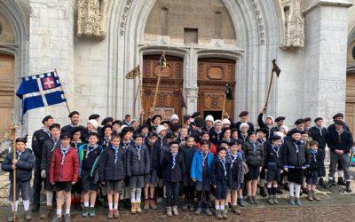 Les scouts d'Europe de Chambéry unis autour de saint François de Sales